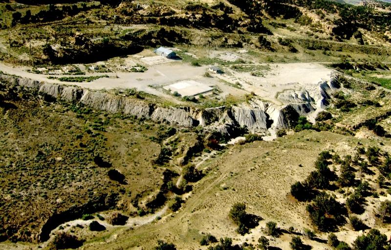 Abandoned Uranium mine, Churchrock, New Mexico. Photo by Lea Rekow, 2009.